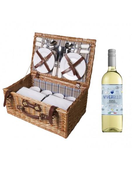 Aluminium wijnkist 1-vaks inclusief sommelierset